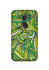 Gobzu Printed Hard Case Back Cover for Moto X2 / Moto X 2nd Generation - Abstract Pattern-2