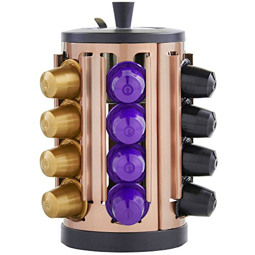 vonshef-24-capsule-nespresso-coffee-pod-rotating-holder-with-built-in-sugar-bowl-spoon-copper-free-2