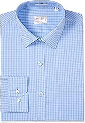 Arrow Men's Formal Shirt (8907378524317_ASSF0317_44_Light Blue)