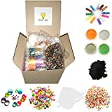 Bright Toys Slime Making Kit Supplies, Water Beads, Foam Balls, Glitter, Glow Powder, Polymer Clay Slices, Black Iron Oxide (Magnetic) Powder