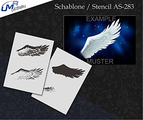 UMR-Design AS-283 Angel Wing Sagoma per aerografo Step by Step Size L
