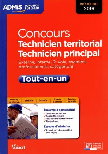 Concours Technicien territorial et technicien principal – Catégorie B – Tout-en-un – Concours 2016