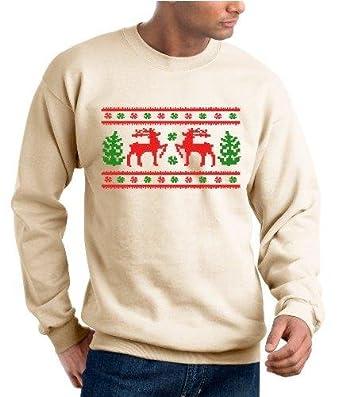 Ugly Christmas Sweater Design, Original Sweatshirt - Beige - L