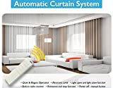 Smart Phone or Remote Controlled Electric Drapery System W/5' Track Center Opening & Wall Mount Brackets CL-920C3 Wi Fi by Curtain Call