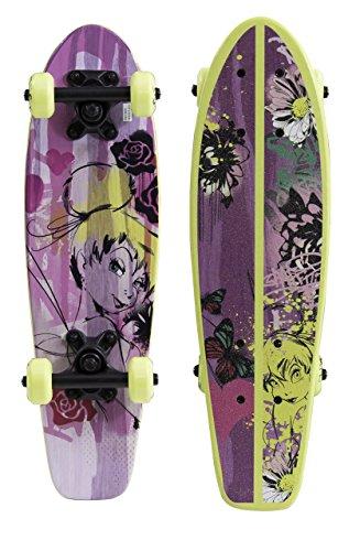 PlayWheels-Disney-Fairies-21-Wood-Cruiser-Skateboard-Tinkeristic-Graphic