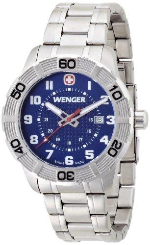 wenger - 010851103 - Montre Homme - Quartz Analogique - Bracelet Acier Inoxydable Argent