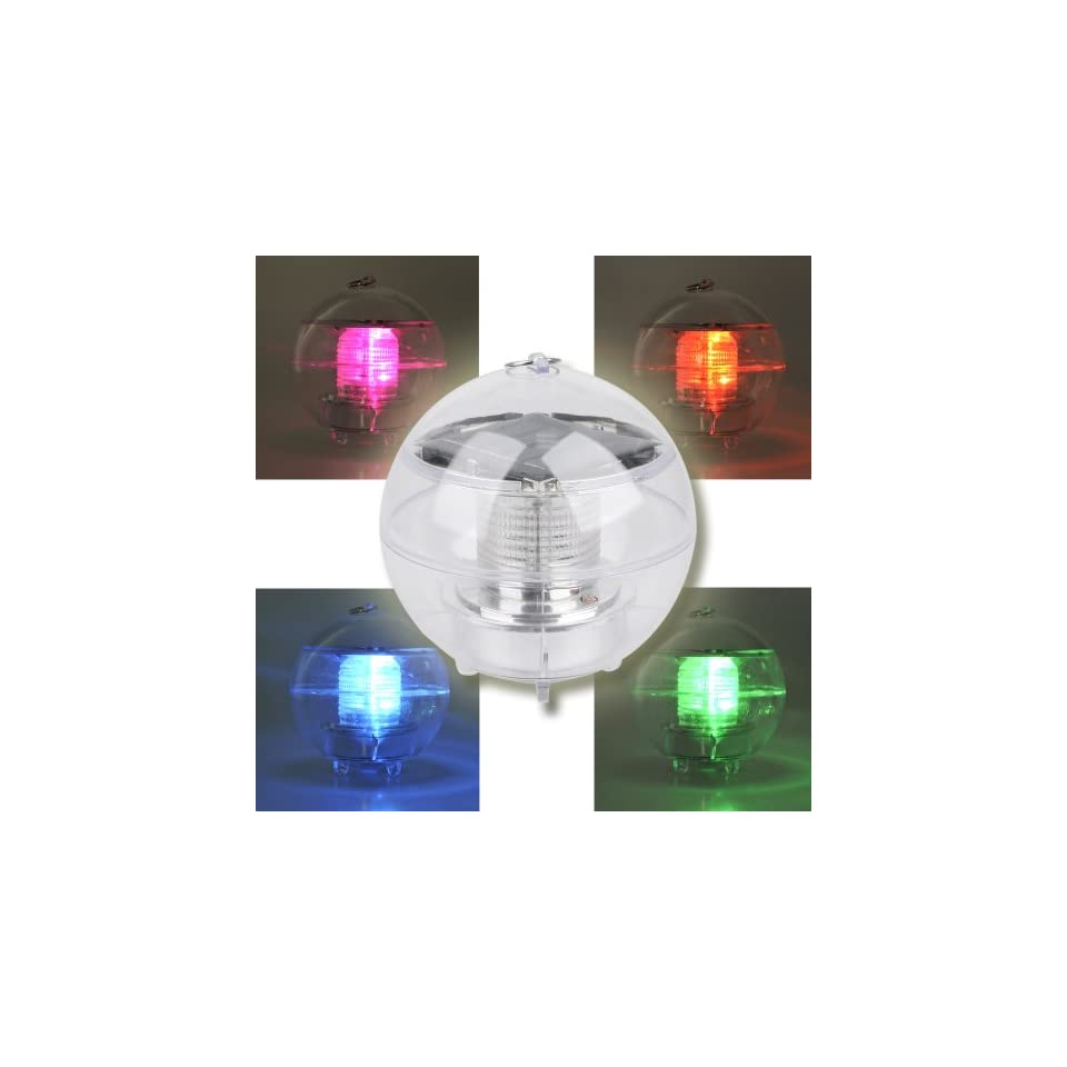 Solar Powered Multi colored LED Light Globe for Indoor and Outdoor Illumination