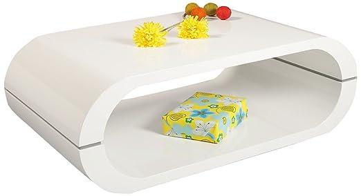 """HL Design 01-03-154.1 Couchtisch """"Mario"""", 1000 x 600 x 355, hochglanz weiß lackiert, Materialstärke 40 mm,"""
