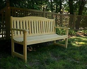 "64"" Treated Pine English Garden Bench"