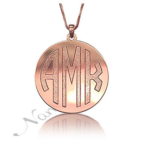 Rose Gold Monogram Necklace