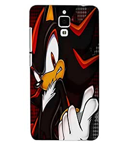 ColourCraft Angry Cat Design Back Case Cover for XIAOMI MI 4