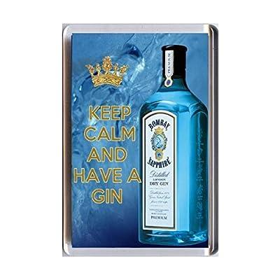 Yummy Grandmummy Bombay Sapphire image Acrylic Fridge Magnet.