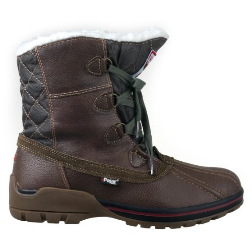 Pajar Men's BANFF Boot, DK Brown/Military Green, 42 EU/9-9.5 M US