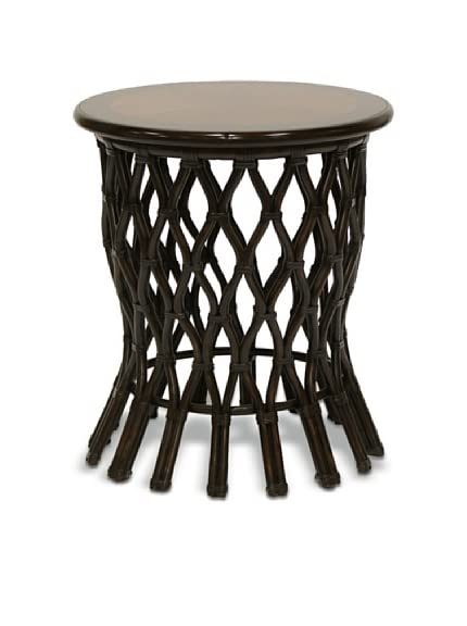 Palecek Delta Side Table, Black/Brown