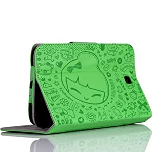 Ushoppingcart Cute Zoo pattern Folio Flip Pu Leather Slim Protective Carrying Case Cover for Samsung Galaxy Tab T211 7.0 7 Inch Tablet (Zoo pattern:Green) from Ushoppingcart
