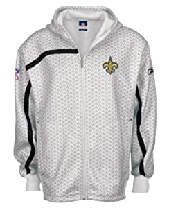New Orleans Saints RBK Adult Size 4XL NFL Conflict Players Sideline Full Zipper Front... by Reebok