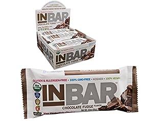 INBalance Health Corp INBar, Certified USDA, 100% GMO-Free, Gluten-Free, Vegan, Kosher, Allergen-Free, healthy snack alternative bar, Chocolate Fudge, (Pack of 12)