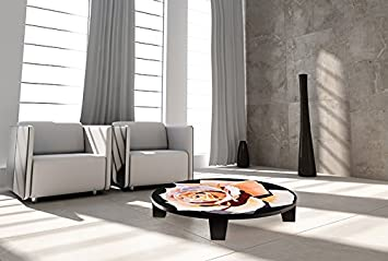 "TAF DECOR ""Afternoon on the Terrace"" Art Coffee Table, 44"" X 44"" X 7.5"", Multicolored"