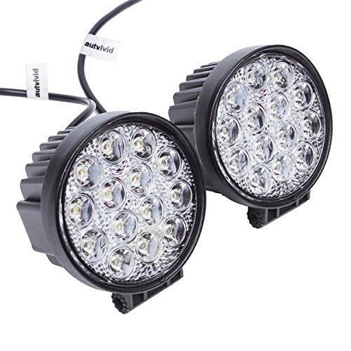 [autvivid 2 PCS 42W Flood LED Work Light 60 Degree Off Road Driving For UTV Sand Rails Buggys ATVs SUV Truck Fork Lift Trains Boat Bus Tanks Motorcycle] (Optimus Prime Costume 2016)