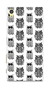 AMEZ designer printed 3d premium high quality back case cover for Sony Xperia Z5 Premium (black and white owl)