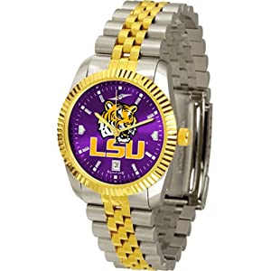 Louisiana State Fightin Tigers NCAA AnoChrome Executive Mens Watch by SunTime