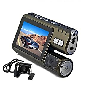 DBPOWER Multifunction(Car Vehicle Recorder/Mini Handheld Video Camera) Remote Control 360 Degree Rotating DVR Dash Cam H.264 Night Vision Motion Detect G-sensor Automatic Override Loop Video 120° Wide Angle Seamless Shooting With TF Slot(Up to 32GB)