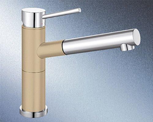 Blanco Alta-S Compact Champagner Beige Einhandmischer Hochdruck Armatur Küche