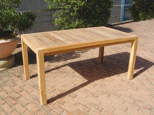 Grosser Gartentisch im Loft-Design 160x90cm, Akazie geölt jetzt bestellen