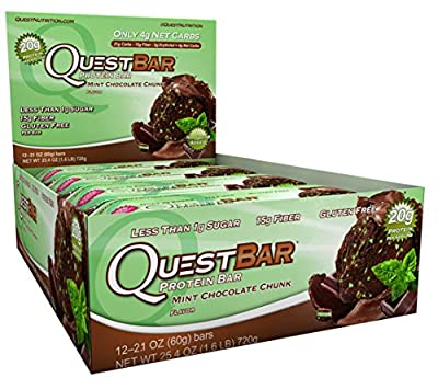 Quest Protein Bars Mint Chocolate Chunk 14 Bars