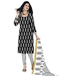 The Ethnic Chic Black Colored Cotton Suit.