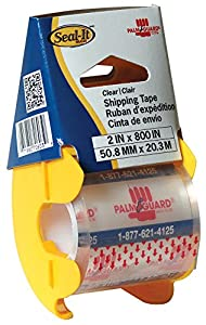 LePage's Seal It  Packing Tape on Palmguard Dispenser, Clear, 2 x 800 Inch (70603)