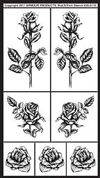 Armour Rub N Etch Stencil, Detailed Roses