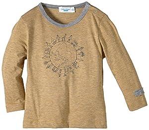 Cotton People Organic - Camiseta con cuello redondo de manga larga para bebé