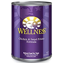 Wellness Complete Health Natural Wet Canned Dog Food, Chicken & Sweet Potato, 12.5-Ounce Can (Pack of 12)