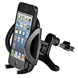 F.Dorla Universal Car Air Vent Mount Holder Airframe Cradle for Cellphone iPhone 4 4S 5 5S 5C 6, Samsung Galaxy S3 S4 S5, Galaxy Note 2 3, LG G2, Motorola Moto X Droid HTC One, Nexus 5, GPS Navigation (Air Vent Mount Holder-B)