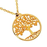 Tree of Life Gold-dipped Pendant Necklace on 18