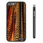 CowCool® Apple iphone 6 4.7 inch Case Hard PC parrots feathers Black Shell Single Layer Protective Case (#10)