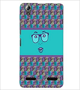 PrintDhaba Specy Face D-4264 Back Case Cover for LENOVO A6000 (Multi-Coloured)