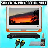 Sony Bravia M-Series KDL-19M4000/D 19-Inch 720p LCD HDTV (Orange) + Sony DVD Player w/ Accessory Kit