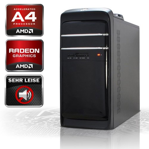 KCS [184323] - AMD A4-5300 2x3.4GHz (Turbo 2x3.6GHz) Dualcore | 4GB DDR3-1333 | 500 GB SATA2 (3gb/s) | ASUS F2A55-M LK | USB3.0 | AMD RadeonHD 7480D, HDMI, DVI, VGA (FullHD 1080p) | 22xDVD-RW | Sound | GigabitLAN | Cardreader | 420W