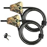 Master Lock - Python Trail Camera Adjustable Camouflage Cable Locks 8418KA-2 CAMO - KEYING MAY VARY