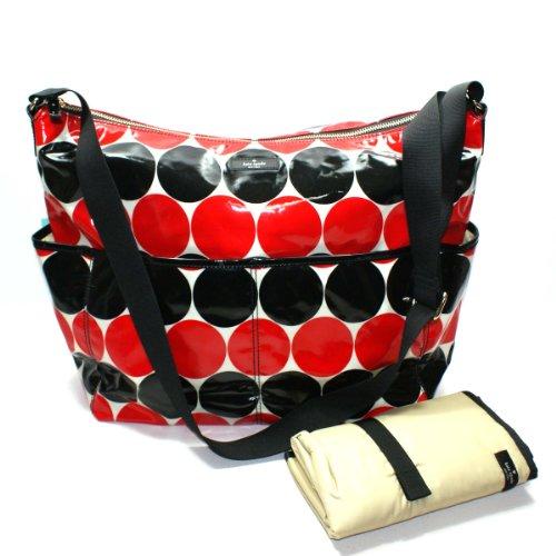 Kate Spade Serena Baby Bag Daycation Dot Diaper Bag/ Crossbody Bag (Red) front-476301