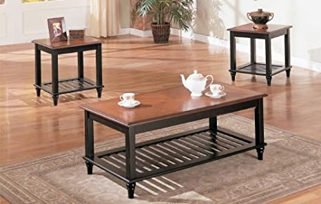 3-pc New Design Coffee Table Set in Walnut Finish PDS F30074