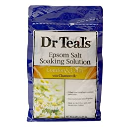Dr. Teal\'s Epsom Salt Soaking Solution, Comfort & Calm, Chamomile 3 lb (pack of 2)
