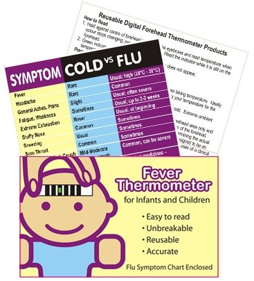 Cold, Fever & Flu Pack with Forehead thermometer - Swine Flu!