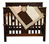 Pam Grace Creations Portable Crib Bedding Set, Cappuccino