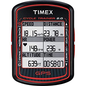 Timex Cycle Trainer 2.0 Bike Computer with GPS and HRM - Mens by Timex