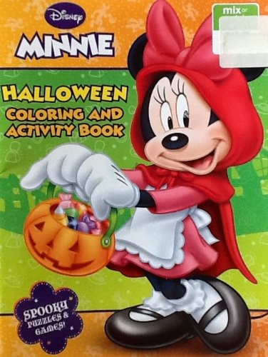 Disney Minnie Halloween Coloring & Activity Book: 32 Pages!!! Spooky Puzzles & Games! - 1