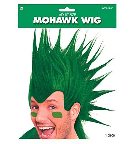 1 X Green Mohawk Wigs