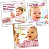 Annabel Karmel Collection 3 Baby Books Set Pack RRP: �38.16 (Top 100 Baby Purees: 100 Quick and Easy Meals for a Healthy and Happy Baby, Weaning, Annabel Karmel''s New Complete Baby and Toddler Meal Planner)by Annabel Karmel